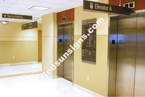 Hanging Ceiling Mounted Directional Signs