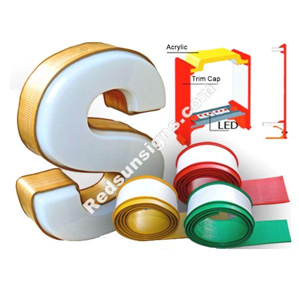 Rubber channel letter trim cap for Channel letter trim cap